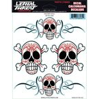 Pinstripe Skull Decal Set - LT88082
