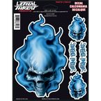 Blue Frame Skull Decal Set - LT88107