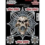 Spike Skull Cross Decal Set - LT88114