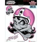 Girl Skull Helmet Decal Set - LT88225