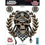 Racing Skull Decal Set - LT90694