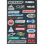 Sport Bike Sponsor Sticker Sheet - 15-68800