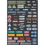 Sport Bike Micro Sponsor Sticker Sheet - 15-68002