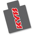 Red KYB Carbon Fiber Look Upper Fork Protectors - N10-1010