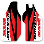 Red/Black/White Lower Fork Protectors - N10-138