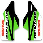 Green/Black/White/Red Lower Fork Protectors - N10-145