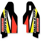 Yellow/Black/White/Red Lower Fork Protectors - N10-149
