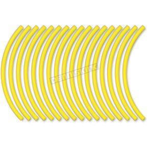 Sport Bike Yellow Wheel Trim Decal Kit - 60602