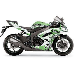 Face Lift Unlimited Sportbike White/Green Graphic Kit - 60102