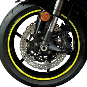 Face Lift Unlimited Sport Bike Fluorescent Yellow Wheel Trim Decal Kit - 60606