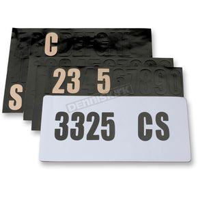 Moose License Plate Decal Kit - 4303-0166