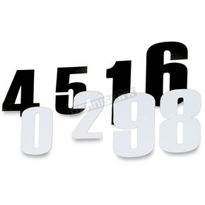 6 in. White Race Numbers - #0 - 4310-0670