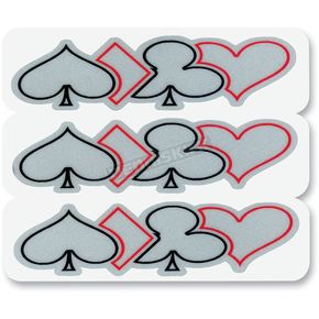 Z1R Reflective Poker Outline Sticker - 106603