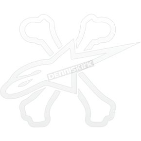 Alpinestars White Hankers Sticker - 1010-97001-20