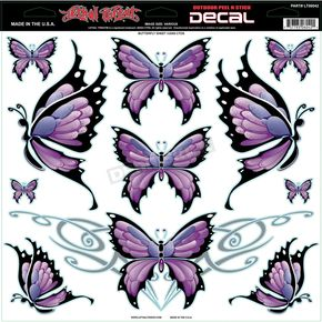 Lethal Threat Butterfly Decal - LT06042