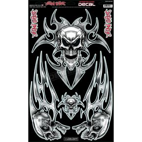 Lethal Threat Robot Skull Decal Set - QK10007
