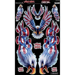 Lethal Threat USA Eagle Decal Set - QK10008