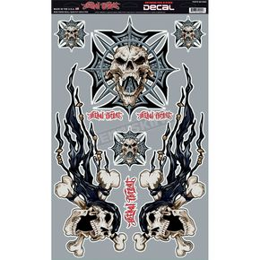 Lethal Threat Cross Skull Decal Set - QK10002