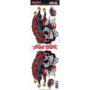 Lethal Threat Left/Right Jester Heads Decal Set - LT02037