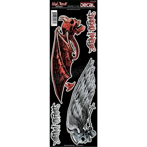 Lethal Threat Devil Angel Skulls Decal Set - LT02061