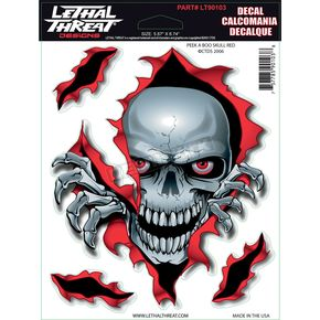 Lethal Threat Peek A Boo Skull Decal Set - LT90103