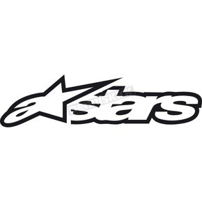 Alpinestars Black 4 in. Astar Sticker - 1049-9700210AOS
