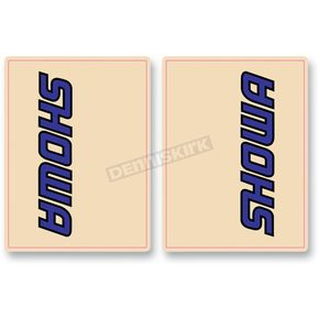 FLU Designs Blue/Black Showa Upper Fork Decals - 01011