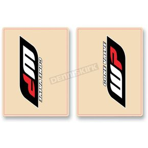 FLU Designs Red/Black WB Upper Fork Decals - 01018