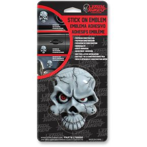 Lethal Threat Eyeball Skull Stick-On Emblem - LT88680