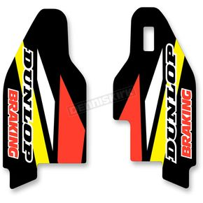 N-Style Yellow/Black/White/Red Lower Fork Protectors - N10-149
