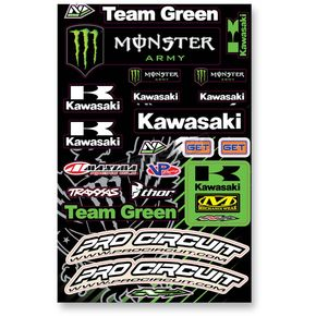 N-Style Universal Team Green Sticker Kit - N30-1057