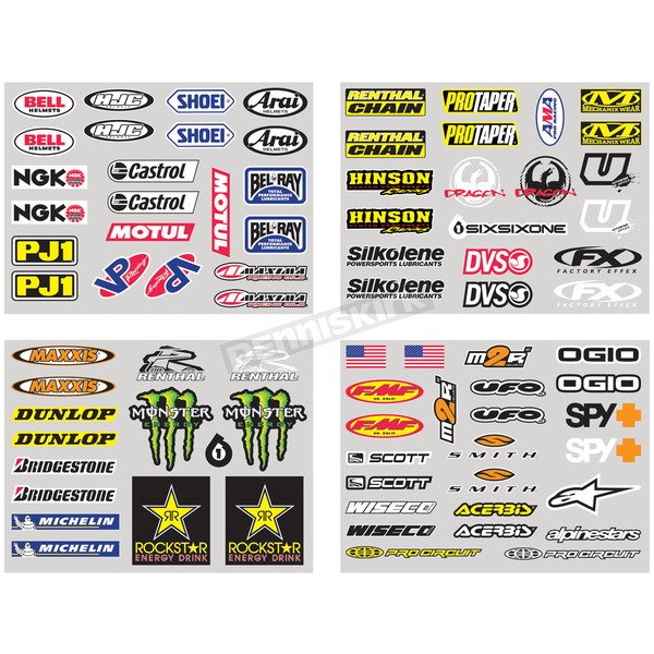 Factory Effex Iron-On Sponsor Kit - 11-82120