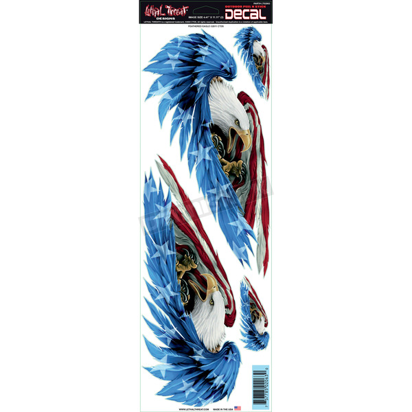 Lethal Threat Feathered Eagle Decal Set - LT02063