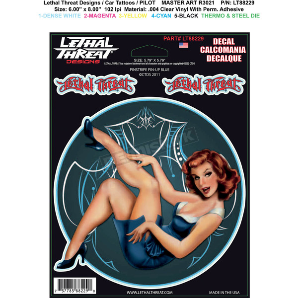 Lethal Threat Pinstripe Pinup Decal Set - LT88229