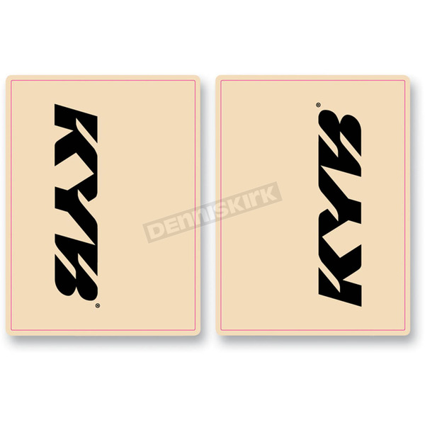 FLU Designs Black KYB Upper Fork Decals - 01015