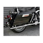 Chrome One-Piece Dresser Slash Down Slip-On Mufflers w/Baffles and Woven Stainless Steel Sound Blanket - MHD-292SD