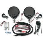 Black Rumble Road Limited Amplified Speakers for 1 in. Handlebars - 223