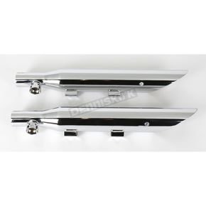 Khrome Werks 3 in. HP-Plus Slip-On Slash-Cut Mufflers - 202300