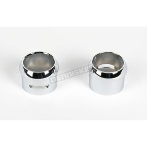 L.A. Sleeve 2.075 in. O.D. Bullet Exhaust Tips for 2.25 in. Pipe w/.083 Wall Thickness - LA-1092-06