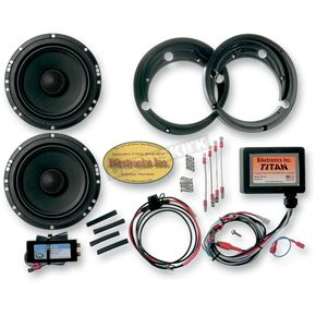 Biketronics 6 1/2 in. Titan II Speaker Upgrade Kit w/Universal Titan Amplifier - BT4572