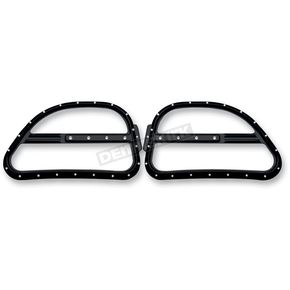 Covingtons Customs Gloss Black Dimpled Front Speaker Grilles - C0025-B