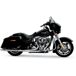 Thunderheader Chrome Long Style High-Performance 2-Into-1 Exhaust System with Heat Shields - 1074S