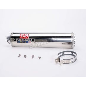 Yoshimura RS-3 Oval Race Bolt-On Muffler with Polished Stainless Steel Muffler Sleeve - ZX129SO