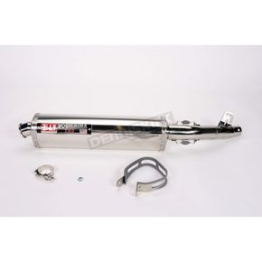 Yoshimura Tri-Oval Race (TRS) Slip-On Muffler w/Polished Stainless Steel Muffler Sleeve - 1115265