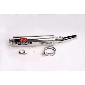 Yoshimura RS-3 Oval Race Slip-On with Polished Stainless Steel Muffler Sleeve - 1361255