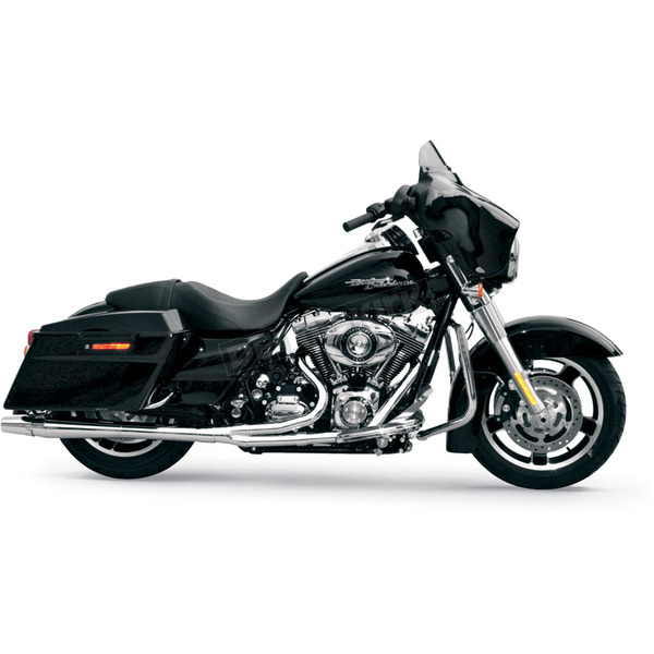 Thunderheader Chrome Long Style High-Performance 2-Into-1 Exhaust System with Heat Shields - 1064S