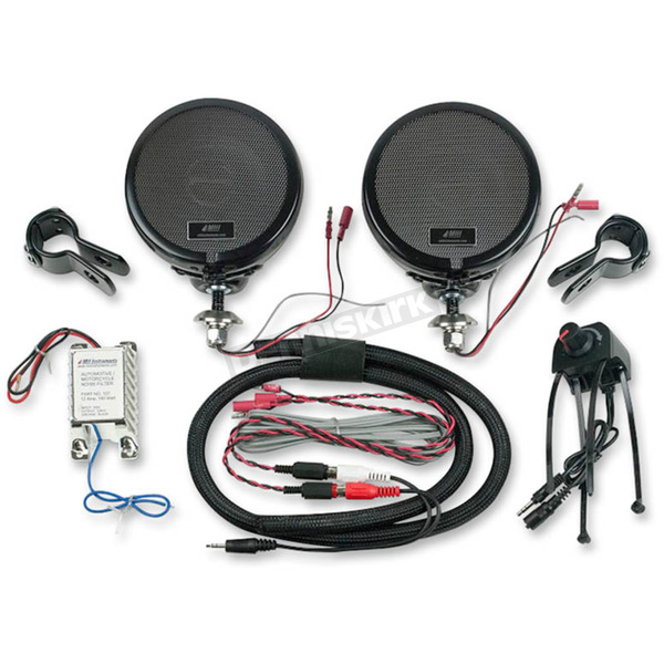 MH Instruments Black Rumble Road Limited Amplified Speakers for 1 in. Handlebars - 223