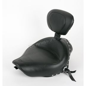 Mustang Seats 15 in. Wide Studded Solo Seat w/Removable Backrest - 79439