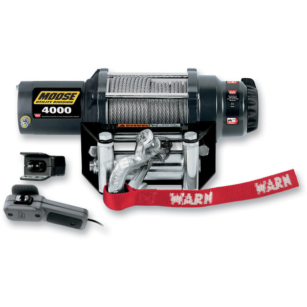 Moose 4000LB Winch with Wire Rope  - 4505-0483