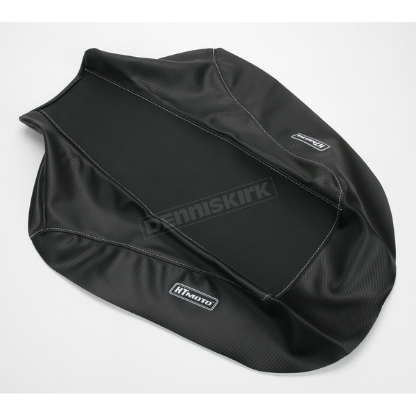 HT Moto ATV Black Carbon Fiber Seat Cover - ATV-H06-BLK